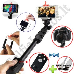 Selfie lazda B4 Pro su Bluetooth | Asmenukių lazda profesionaliam naudojimui