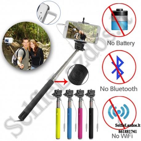 Selfie lazda su laidu S2 Pro | Teleskopinė asmenukių lazda