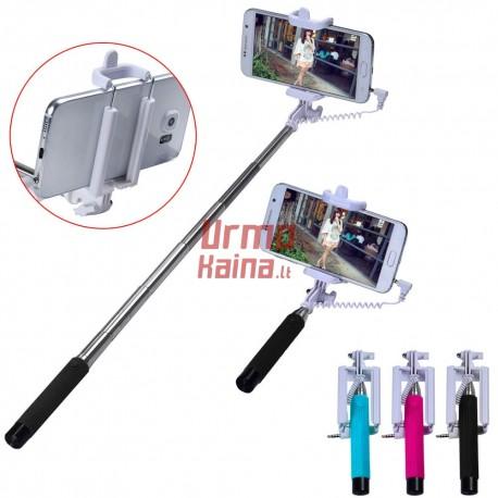Selfie lazda su laidu S2 Compakt | Asmenukių teleskopinė lazda